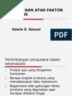 Permintaan Atas Faktor Produksi