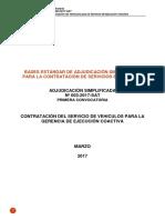 BAses SERVICIO DE VEHICULOS PARA LA GERENCIA DE EJECUCIÓN COACTIVA