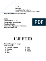 Named Uji FTIR
