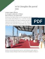 Predica Papei La Liturghia Din Parcul Milanez Monza