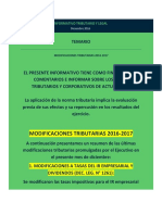 Reforma Tributaria Ultimas Modificaciones Dic 2016