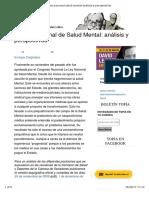 Argentina Ley de salud mental.  Análisis de Enrique Carpintero, de revista Topia