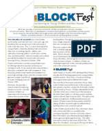 BLOCK Fest - Math and Science Learning for Young Children and Their Parents