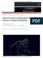 How to Create a Typography Dispersion Action in Adobe Photoshop