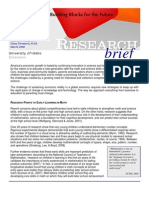 Research Brief - Early Math Skills - Building Blocks for the Future