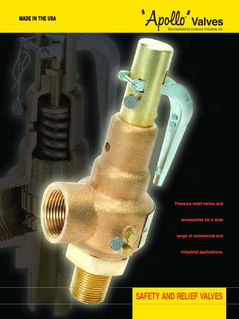 Apollo Valve 10-600 Series Bronze Safety Relief Valve 3//4 NPT Female 125 psi Set Pressure ASME Hot Water