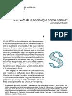 Durkheim - El Ambito de La Sociología Como Ciencia