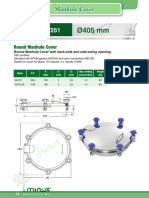 Minox 038 Round Manhole Cover Model 6V251 Ø405 Mm