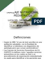 TAMIZAJE NUTRICIONAL PEDIATRICO