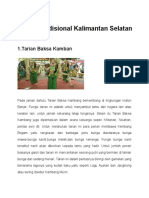 Tarian Tradisional Kalimantan Selatan