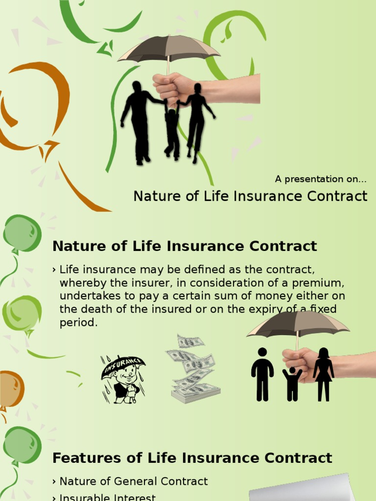 Nature Of Life Insurance Contract Insurance Private Law