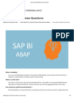 Advanced SAP BI ABAP Interview Questions