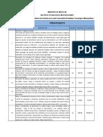 005 de 2013 LIC Presupuesto y APU Adecuacion y Pintura Fachada Fraternidad