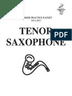 Summer Practice Packet 12-13 Tenor Sax