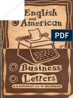 Eckersley - Kaufmann English and American Business Letters