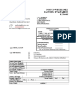 Costco Factory Evaluation Report 22FEB05