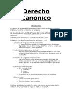 Derecho Canónico. aspectos fundamentales.