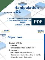 Data Manipulation With SQL - CMS Version
