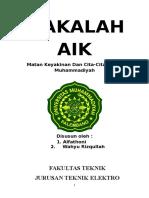 Makalah Matan Keyakinan Dan Cita-Cita Hidup Muhammadiyah