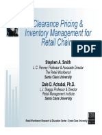 Clearance Pricing & Inventory Management for Retail Chains