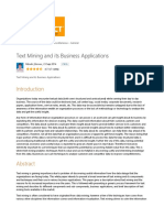 Text Mining and Its Business Applications