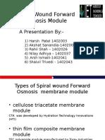 Spiral Wound Forward Osmosis Membrane Module