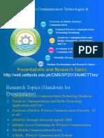 Notes-Lec 2 - Presentation Topics for WCT&T