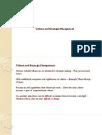 Culture and Strategic Management
