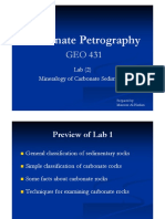 Carbonate Petrography