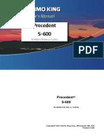 Precedent S-600 Operator's Manual
