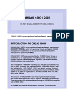 OHSAS 18001 2007 - HSE