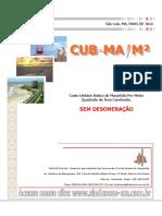 Custo Unitário Básico do Maranhão Por Metro Quadrado de Área Construída