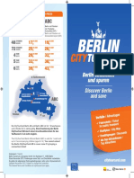 Berlin CityTourCard Flyer 2016