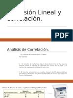Regresión Lineal y Correlación