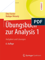 Forster - Analysis 1 Übungsbuch