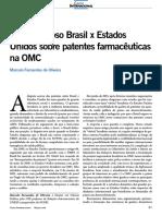 Brasil x EUA (patentes)