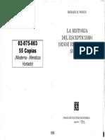 Popkin - Hist. Del Esceptiscismo - Prefacio y Caps 1 Al 3