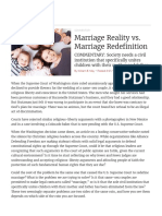 Marriage Reality vs. Marriage Redefinition