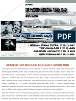 ARSITEKTUR MODERAN SESUDAH TAHUN 1940