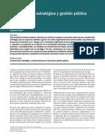 Lectura 1 - Comunicación Estratégica y Gestión Pública