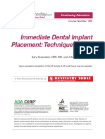 Immediate Dental Implant 1