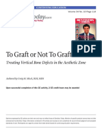 To Graft or Not to Graft