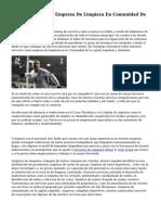 Ofertas De Empleo Empresa De Limpieza En Comunidad De la capital española