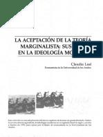 01 La Aceptacion de La Teoría Marginalista - Claudia Leal