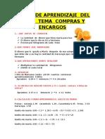 Seseion de Aprendizaje Del Libro Tema Comparas y Encargos