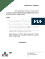 Comunicado del PIT-CNT
