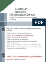 Ley 39-2015 Título I de Los Interesados