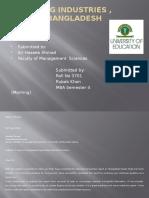 Analysis of RMG Industry, Bangladesh