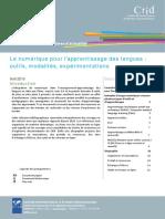 Focus Numerique Pour Apprentissage Des Langues