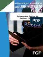 Elaboração e Análise de Politicas Publicas